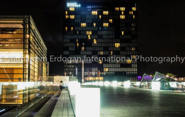 Night Impressions Duesseldorf MedienHafen Germany – 08-05-2015