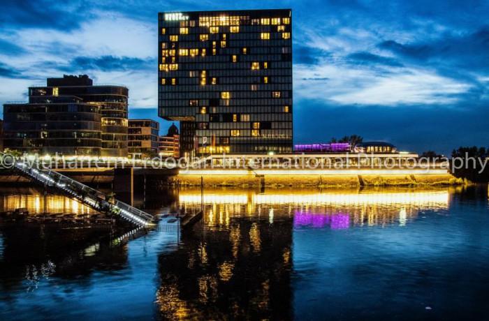 NIGHT IMPRESSIONS DUESSELDORF MEDIENHAFEN GERMANY – 08 – 05 – 2015