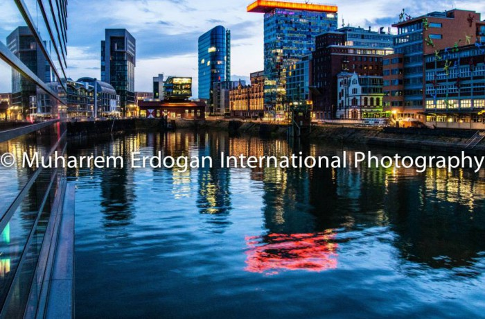 Night Impressions Duesseldorf MedienHafen Germany – 08-05-2015
