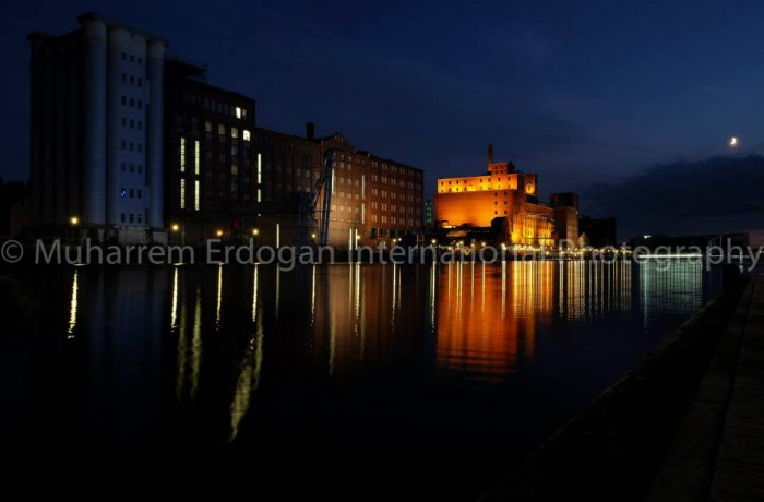 Night Impressions Duisburg Inner Harbour Germany – 21 – 07 – 2015