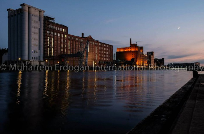Night Impressions Duisburg Inner Harbour Germany – 21-07-2015